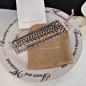 Jenny Bird Austin Cuff Mix Metals Stacked Bracelet